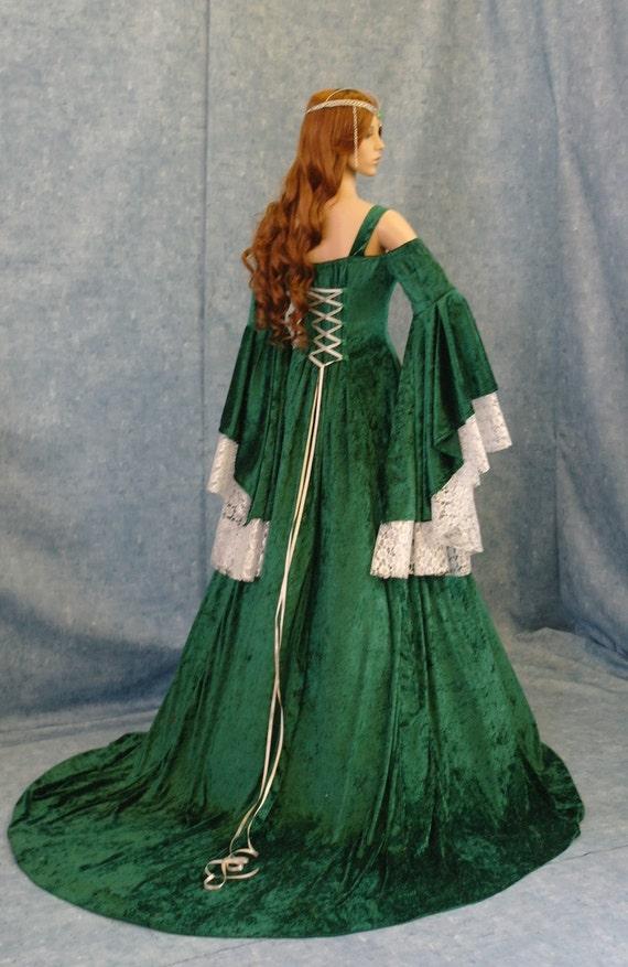 Celtic Wedding Dress Renaissance Dress Medieval By Camelotcostumes