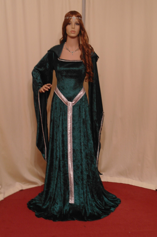 Celtic dress medieval dress st patricks day by camelotcostumes