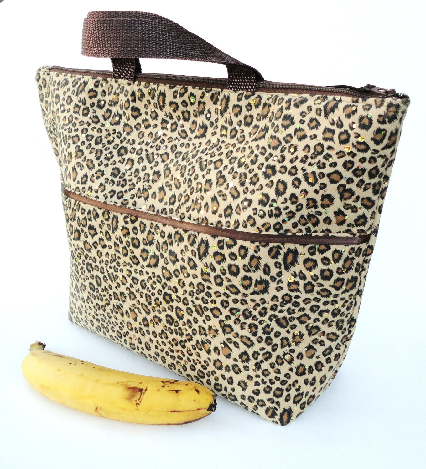 Lunch Bag Tote Insulated Large In Leopard By
