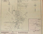 Reserved for Matt Antique Map of Plan Of Waverly, 9th District/ Harrisonville, 2nd District from GM Hopkins' 1877