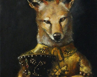 """Coyote - """"Lies Do Not Become Us"""" - 5x7"""
