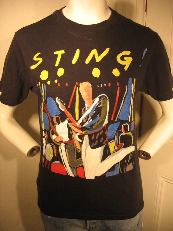 1983 Sting The Police Bring On The Night album tour unisex t-shirt - men's sz S/M