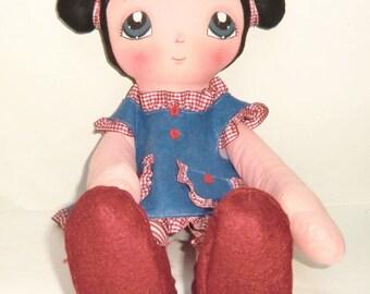 "NEW """""" Instant Download """"Art Doll Pattern PDF DIY "" Big Doll Cinzia "" sewing  free shipping"