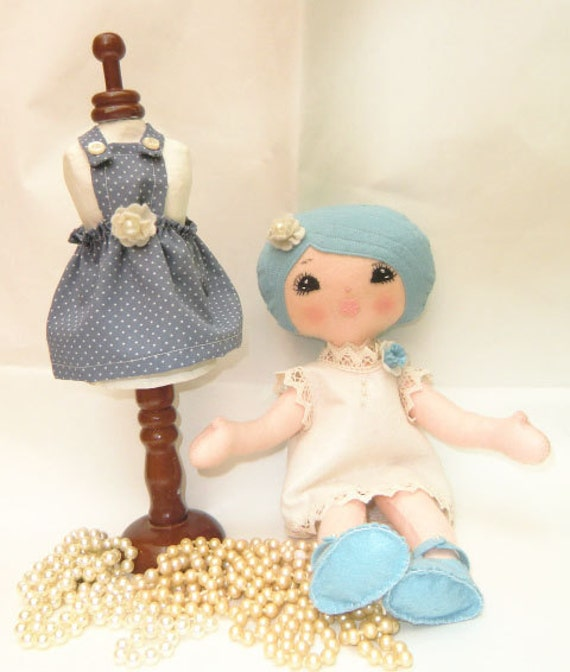 "Instant Download -Art Doll Pattern PDF DIY "" Doll Wilma ""with two clothes  sewing  free shipping"