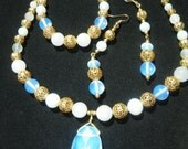 Opalite Pendant, Necklace, Bracelet, Earrings, Women, Artisan, 20 in