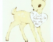 to you my deer illustration print (small)