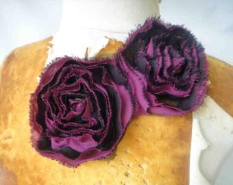 Cute   chiffon flowers applique  1 pieces listing