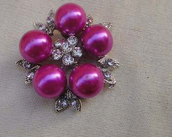 Cute  flower  buckle with   rhinestones  1  pieces listing