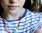 Annabel Colorful Flower Necklace-14K gold filled chain