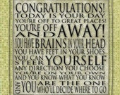Dr Seuss Motivational Today Is Your Day Contemporary Cafe Mount 6x6 Graduation Congratulations