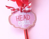 Valentine PRINTABLE 'You Make My Head Spin' Tag from Love The Day