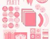 Pinkalicious Princess Party PRINTABLE Full Birthday Party Set by Love The Day