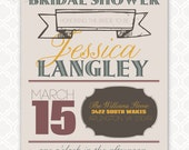 Bridal Shower PRINTABLE Invitation by Love The Day