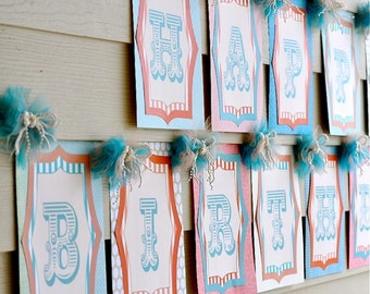 Vintage Circus Party PRINTABLE Happy Birthday Banner (INSTANT DOWNLOAD) by Love The day