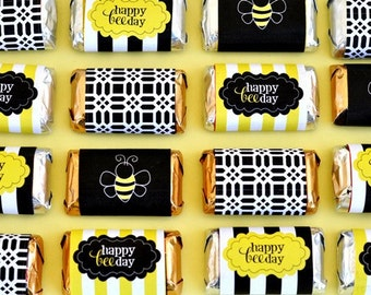 Bee Party PRINTABLE Candy Bar Wrappers (INSTANT DOWNLOAD) from Love The Day