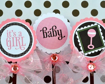 So Girly Baby Shower PRINTABLE Party Circles (INSTANT DOWNLOAD) by Love The Day