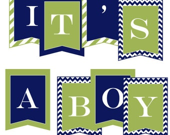 It's A Boy Baby Shower PRINTABLE Party Banner by Love The Day