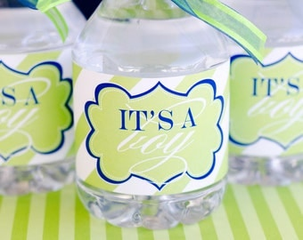 It's A Boy Baby Shower PRINTABLE Drink Labels (INSTANT DOWNLOAD) by Love The Day