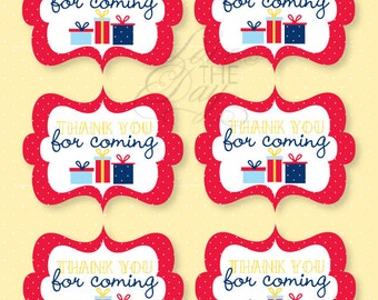 Birthday Party PRINTABLE Favor Tags (INSTANT DOWNLOAD) by Love The Day