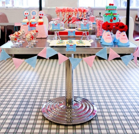 Retro Cherry Party PRINTABLE DIY Full Birthday by Love The Day