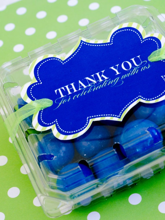 It's A Boy Baby Shower PRINTABLE Thank You Favor Tags (INSTANT DOWNLOAD) by Love The Day