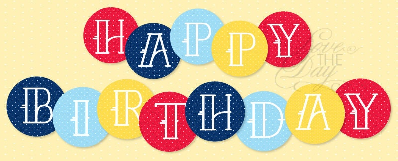 print happy birthday banner - Template