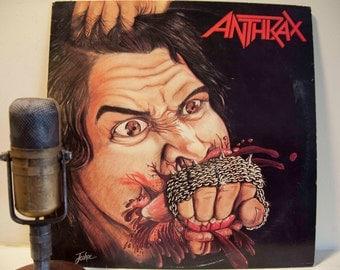 "ON SALE Vinyl Record Album Thrash Metal Classic Anthrax ""Fistful of Metal"" (Original 1983 Megaforce Records)"