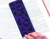 Leopard Print Cross Stitch Kit Purple Bookmark