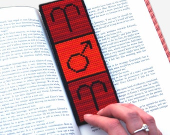 Aries Cross Stitch Kit Astrology Zodiac Bookmark