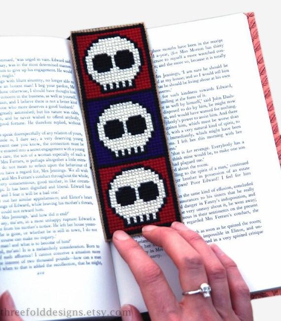 Skulls Cross Stitch Kit Bookmark