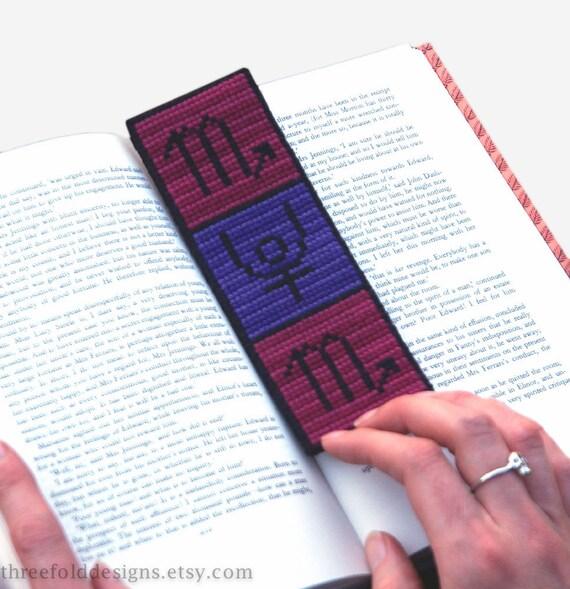 Scorpio Cross Stitch Kit Astrology Zodiac Bookmark