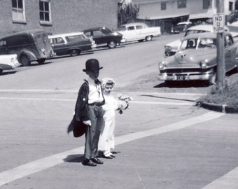 Aren't These Two a LITTLE YOUNG To Get MARRIED Photo Circa 1950s