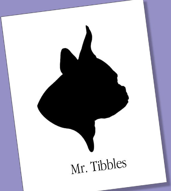 Animal Silhouette Portrait Personalized for your Pet