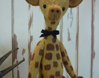 Introducing Flash Harry the Giraffe from Luvly Bears.  The cost is for Harry's pattern, but I can make him for you.