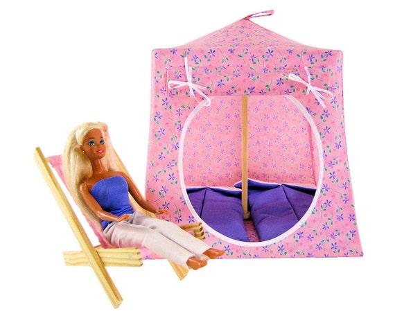Toy Pop Up Tent, Sleeping Bags, light pink, flower print fabric