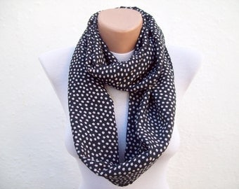 infinity scarf Loop scarf Neckwarmer Necklace scarf Fabric scarf   Black White Pink women scarf mothers day