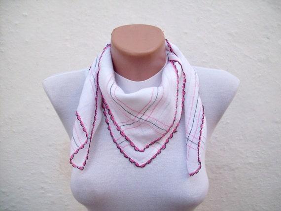 Shawl Scarf,Traditional Turkish Fabric Scarf,Needle Lacework,Oya