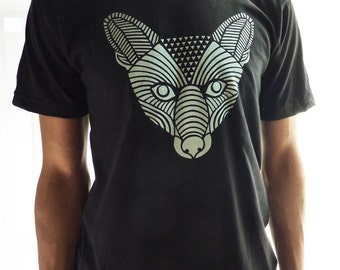 SALE - Silver Fox Mens Black T-Shirt