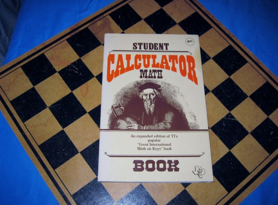 STUDENT CALCULATOR MATH 1980s Vintage Book