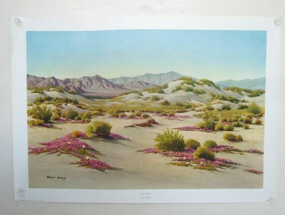 western desert print - norman yeckley - vintage southwest landscape picture