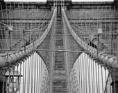Brooklyn Bridge Black and White -8 x 11.5 Art Photograph - Multiple Sizes Available