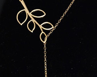 Cute bird  tree branches 14K gold filled necklace