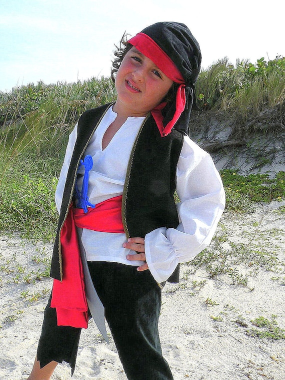 Child size Pirate Pirates Costume for Boys Halloween