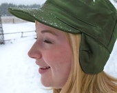 """Winter Army Surplus Hat with Ear Flaps  """"Super Comfortable"""""""