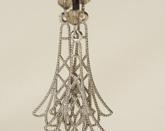 Delicate Filigree Flapper Earrings by Vanessa Mercedes