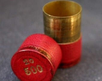 My little red secret. Vintage gold coin container.