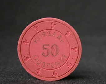 Got Fifty. Vintage casino pink chip.