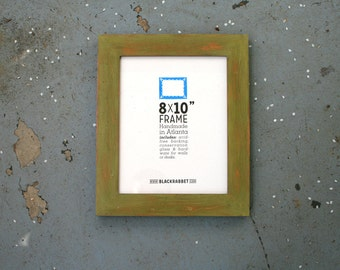 Distressed Chartreuse Picture Frame (8 x 10 in)
