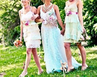 Bridesmaid slip style dress CUSTOM  Tea Party Dress