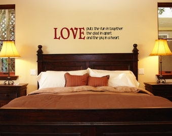 Wall Decals Wall Words Art Wall Stickers Vinyl Lettering - LOVE Puts the Fun in Together